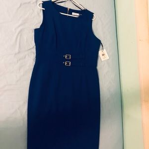 Blue Calvin Klein dress. Size 12. Never used.